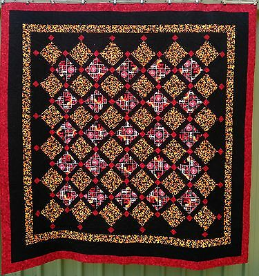 PRICE REDUCED TO BELOW COST, handmade quilt, firefighter theme, queen bed size