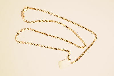 9ct Gold Curb Link Necklace - 10.4g - 57cm Length