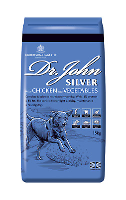 Dr John Silver Medal Chicken Adult Working Complete Dog Food 15 kg VAT FREE