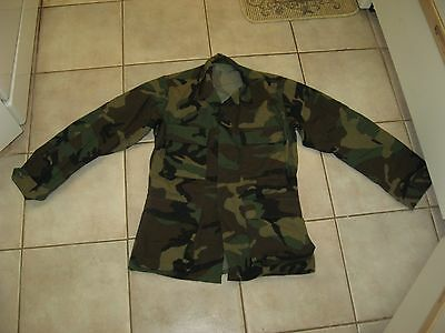 Bdu Camo Woodland Jacket Canadian Used Army Fatigues Sizes Xs 63 To 67 Short