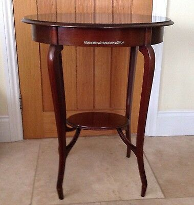 Small Antique Mahogany Window/Occasional Table