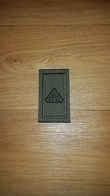 Irish Army 3 Star Private Green Rank Slide - New