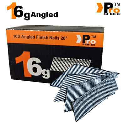 2000 x Mixed Angled 16G 2nd Fix Nails DEWALT DC618KB & DCN660(500 each size)
