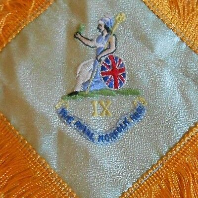 post 1935     silk  military antimacassar   of the Royal Norfolk Regiment
