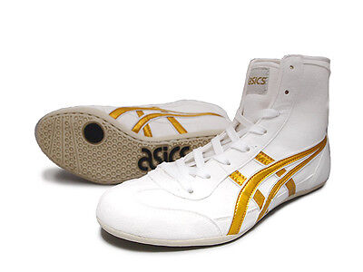 ASICS Wrestling Boxing Shoes TWR900 White x Gold Made in Japan - NEW