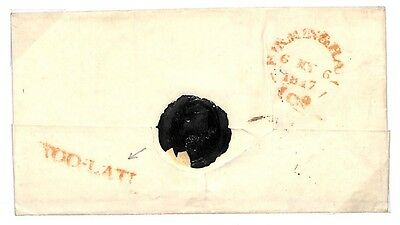 """N104 1817 Birmingham. Late Mail. Note: """"Too-late with hyphen"""""""