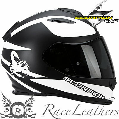 Scorpion Exo 510 Sublim Black White Full Face Motorcycle Motorbike Bike Helmet