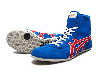 ASICS Wrestling Boxing Shoes TWR900 Blue x Red Made in Japan - NEW