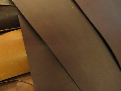 OIL TANNED CHOCOLATE BROWN COWHIDE LEATHER PIECES 2.7mm thick VARIOUS SIZE craft