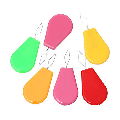10Pcs Plastic Bow Wire Needle Threader Hand Machine Sewing Stitch Insertion Tool