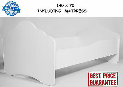 CHILDRENS BED TODDLER KIDS WITH MATTRESS  size 140x70cm