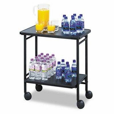 Safco Folding Office/Beverage Cart, 2-Shelf, 26w x 15d x 30h, Black (SAF8965BL)