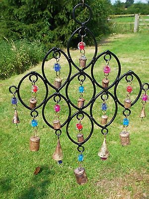 Bells And Beads Metal Windchime Wind Chime Mobile Hanging Garden Decoration