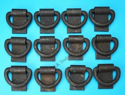 FREE P&P* 12 x Heavy Duty D Shape Lashing Rings Tie Down Trailers Truck Lorry