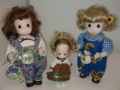 "Garden of Friends 12"" PRECIOUS MOMENTS Doll LOT Vintage September February"