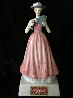 """2000 Coca-Cola 8""""Vintage Lady with Coke & Fan Figurine Limited Edition"""