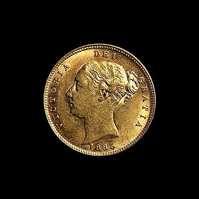 1885  Young Head Gold Half Sovereign