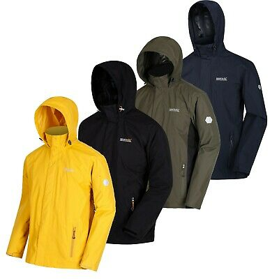 Regatta Mens Matt Windproof Waterproof Hydrafort Full Zip Rain Jacket