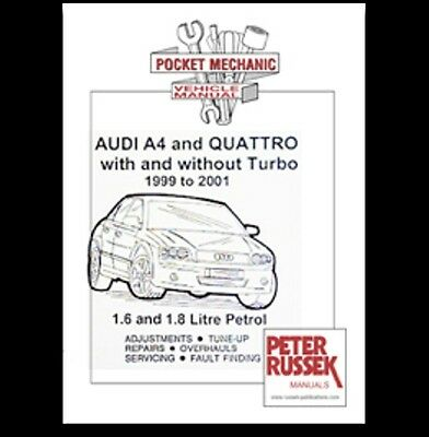 Audi A4 and Quattro with and without turo 1999 to 2001 book  car