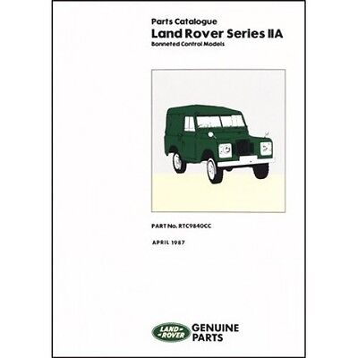 Land Rover Series 2A Bonneted Control Parts Catalogue book paper