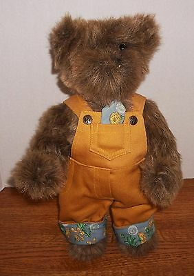 "Ashton-Drake Galleries 13"" Jointed Bear, 1996 Ed. Orig. Clothes, Stand Included"