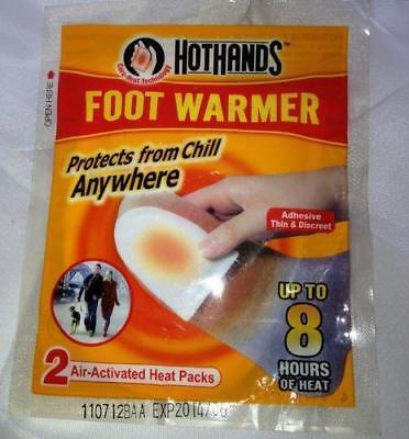 ** Hothands Foot Warmers 2 Warmers Up To 8 Hours Ready To Use New ** Winter