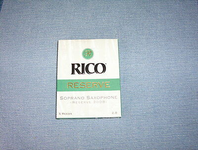 RICO Reserve saxophone  soprano reed 2.0 ( 5 units)