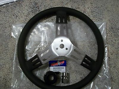 New Rebco 15 in Alum Dished Steering wheel with hex disconnect. kit