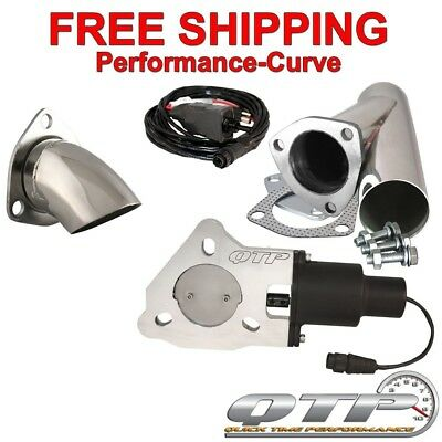 "QTP Quick Time Performance 2.5"" Electric Exhaust Cutout Kit - QTEC25CPSK1"