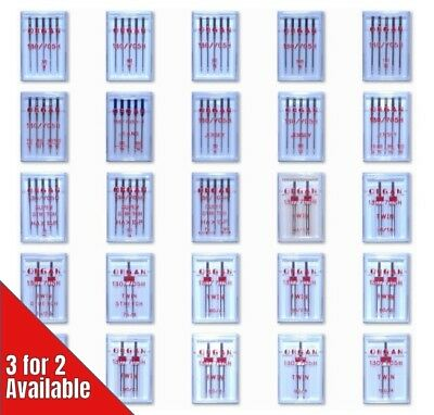 Organ Domestic Sewing & Embroidery Machine Needles Complete Full Range