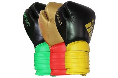 Adidas Hybrid 300 Leather Boxing Gloves Sparring Training Boxercise Fight Gloves