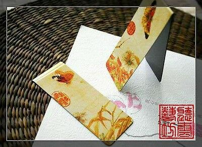 Set of 2 Chinese Ancient Painting Magnetic Bookmark Butterfly