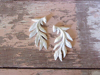 SHABBY n CHIC FURNITURE APPLIQUES * ARCHITECTURAL LEAVES (2) * STAINABLE
