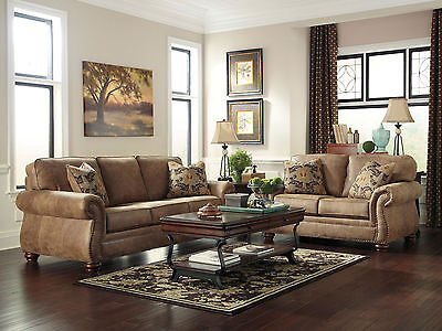Ashley Traditional Sofa, Loveseat, Chair & Ottoman 4 Piece Living