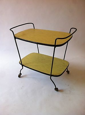 Vintage Italian Mid-Century  Formica 50s Drinks Trolley Bar Cart Cocktail cabin