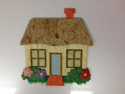 4 DIECUT HOME SWEET HOME HOUSE COTTAGE CARD MAKING CRAFT EMBELLISHMENTS (set 2)