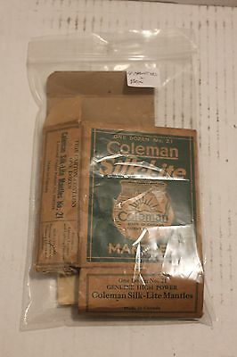Lot (4) Nos Coleman Canada 21 Lamp Lantern Mantles With Box