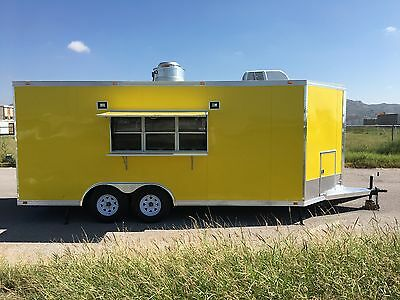 New Concession Food Event Bbq Trailer 18  X 8.5  Full Equipped