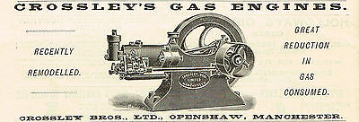 1899 AD Grossley Bros, Openshaw, Manchaster, Gas Engines-scientific instrument