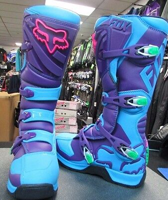 New Fox Comp 5 Racing Boots Men's Size 11 Blue Limited  Edition  18170-002-11