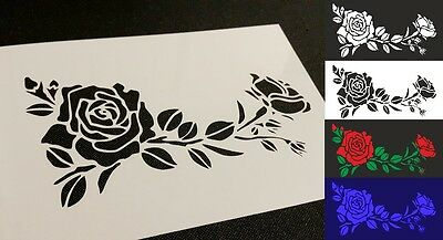 #3 Flowers Roses Airbrush Stencil Wall Cake Card Decoration Spray Mylar Reusable