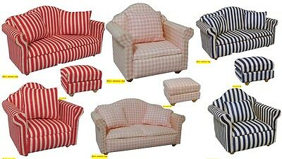 1:12 scale dolls house miniature living room seating 9 to choose from.