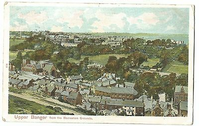 Upper Bangor From the Recreation Grounds, 1904 Duplex 47 PMK To Scarborough