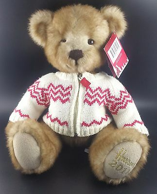 "Harrods Christmas Teddy Bear 2011 ""Freddie"", Dated to Foot, With Tag in Ear"