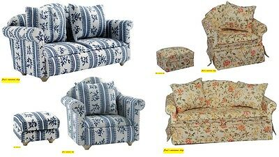 1:12 scale dolls house miniature living room seating 6 to choose from.