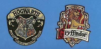2 Lot Harry Potter Hogwarts Gryffindor Scarf Patches