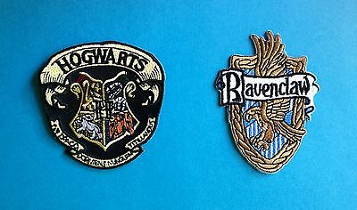2 Lot Harry Potter Ravenclaw House Hogwarts Scarf Hat Jacket Patches Crests