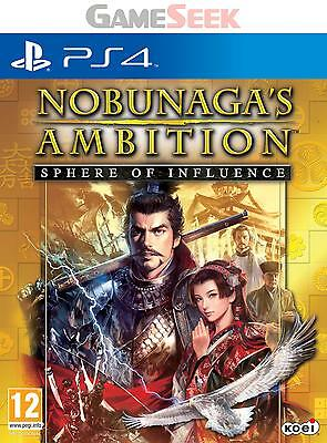Nobunagas Ambition Sphere Of Influence - Playstation Ps4 Brand New Free Delivery