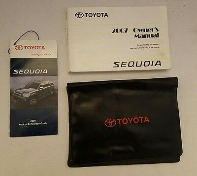 2007 toyota sequoia oem owners manual black case oem 34 49 rh picclick com 2006 Toyota Sequoia 2004 Toyota Sequoia