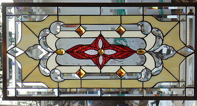Stained Glass window hanging 32 1/2 X 16 1/4""